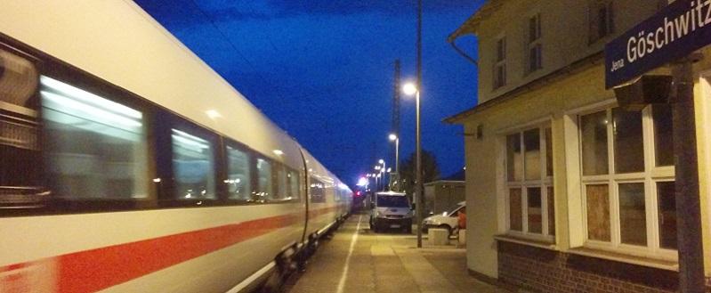 Gleis 3 am Bahnhof Jena-Göschwitz.