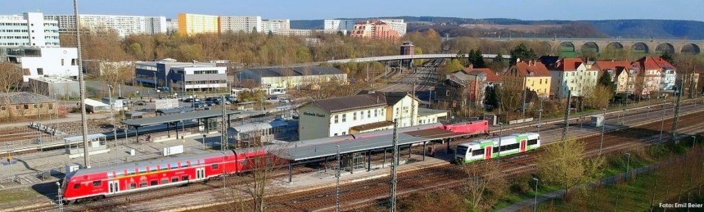 Der Bahnhof Jena-Göschwitz.